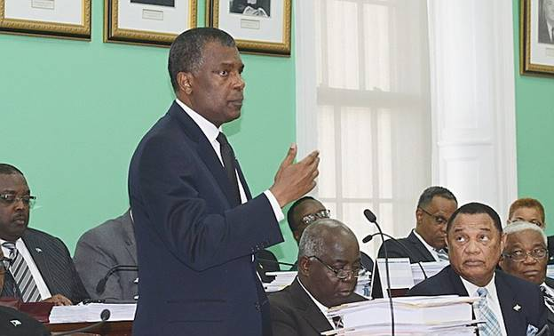 Description: MINISTER of Foreign Affairs and Immigration Fred Mitchell in the House of Assembly.