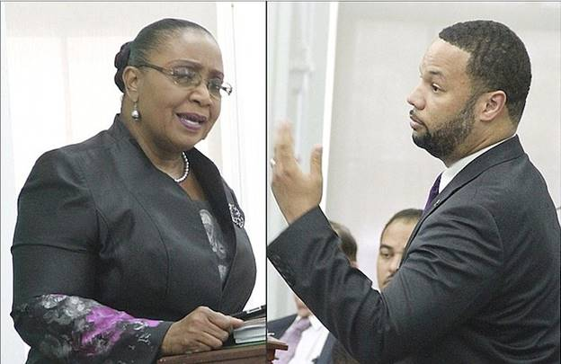 Description: PLP MP Cleola Hamilton yesterday said that she did not feel personally safe in the House of Assembly with FNM MP Andre Rollins.