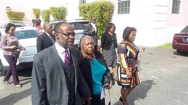 Description: John Bostwick II leaving Magistrates Court on Wednesday morning