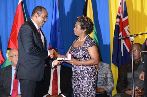 marion bethel gets caricom award