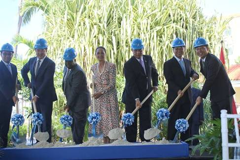 From left to right are China Construction America (CCA) Bahamas Senior Vice President, <a href=