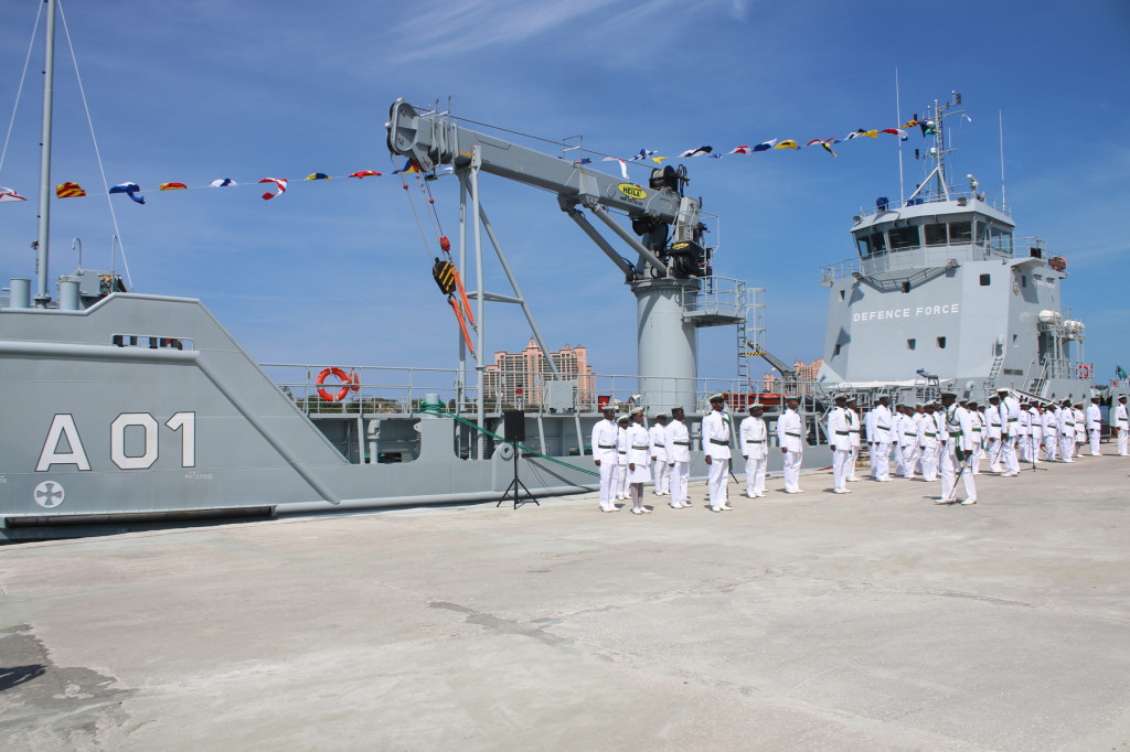 The RBDF HMBS Lawrence Major was commissioned during the ceremony.